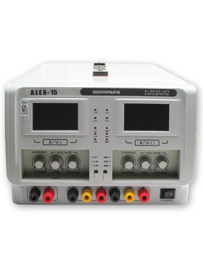 ALEX 15 Двойной регулируемый источник питания постоянного тока